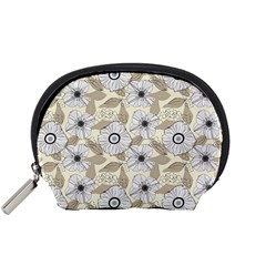 Flower Rose Sunflower Gray Star Accessory Pouches (small)
