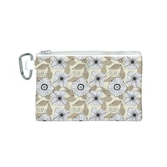 Flower Rose Sunflower Gray Star Canvas Cosmetic Bag (s)