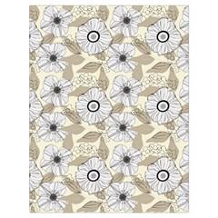 Flower Rose Sunflower Gray Star Drawstring Bag (large)