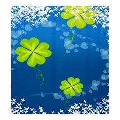 Flower Shamrock Green Blue Sexy Shower Curtain 66  X 72  (large)