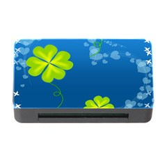 Flower Shamrock Green Blue Sexy Memory Card Reader With Cf