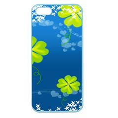 Flower Shamrock Green Blue Sexy Apple Seamless Iphone 5 Case (color)
