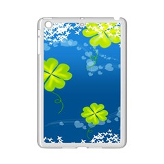Flower Shamrock Green Blue Sexy Ipad Mini 2 Enamel Coated Cases