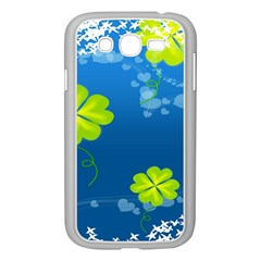 Flower Shamrock Green Blue Sexy Samsung Galaxy Grand Duos I9082 Case (white)
