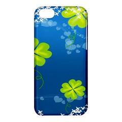 Flower Shamrock Green Blue Sexy Apple Iphone 5c Hardshell Case