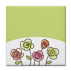 Flower Simple Green Rose Sunflower Sexy Tile Coasters
