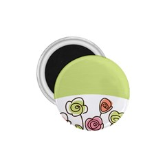 Flower Simple Green Rose Sunflower Sexy 1 75  Magnets