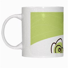 Flower Simple Green Rose Sunflower Sexy White Mugs