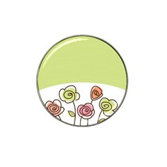 Flower Simple Green Rose Sunflower Sexy Hat Clip Ball Marker (10 Pack)