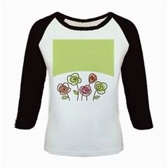 Flower Simple Green Rose Sunflower Sexy Kids Baseball Jerseys