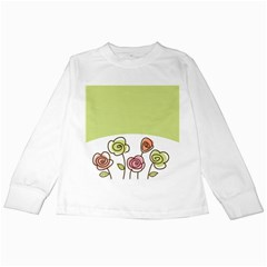 Flower Simple Green Rose Sunflower Sexy Kids Long Sleeve T Shirts