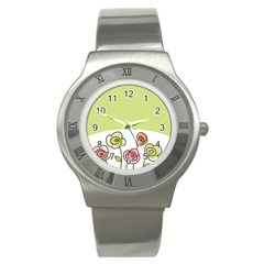Flower Simple Green Rose Sunflower Sexy Stainless Steel Watch