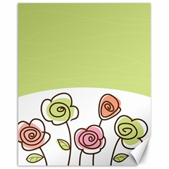 Flower Simple Green Rose Sunflower Sexy Canvas 16  X 20