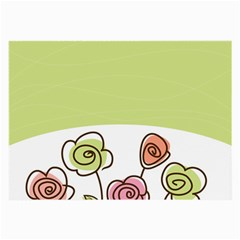 Flower Simple Green Rose Sunflower Sexy Large Glasses Cloth