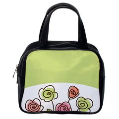 Flower Simple Green Rose Sunflower Sexy Classic Handbags (one Side)