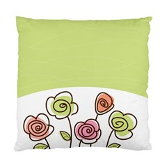 Flower Simple Green Rose Sunflower Sexy Standard Cushion Case (one Side)