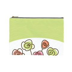 Flower Simple Green Rose Sunflower Sexy Cosmetic Bag (large)