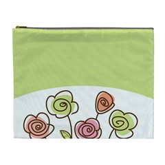 Flower Simple Green Rose Sunflower Sexy Cosmetic Bag (xl)