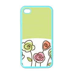 Flower Simple Green Rose Sunflower Sexy Apple Iphone 4 Case (color)