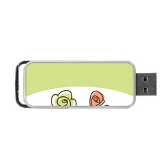 Flower Simple Green Rose Sunflower Sexy Portable Usb Flash (one Side)