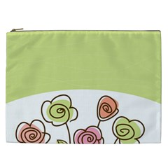 Flower Simple Green Rose Sunflower Sexy Cosmetic Bag (xxl)