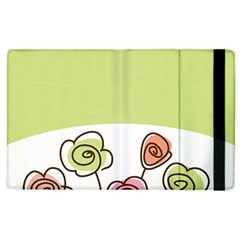 Flower Simple Green Rose Sunflower Sexy Apple Ipad 3/4 Flip Case
