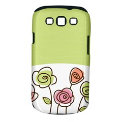 Flower Simple Green Rose Sunflower Sexy Samsung Galaxy S Iii Classic Hardshell Case (pc+silicone)