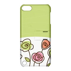 Flower Simple Green Rose Sunflower Sexy Apple Ipod Touch 5 Hardshell Case With Stand