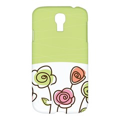Flower Simple Green Rose Sunflower Sexy Samsung Galaxy S4 I9500/i9505 Hardshell Case