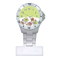 Flower Simple Green Rose Sunflower Sexy Plastic Nurses Watch