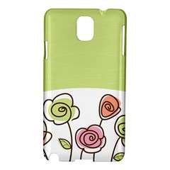 Flower Simple Green Rose Sunflower Sexy Samsung Galaxy Note 3 N9005 Hardshell Case