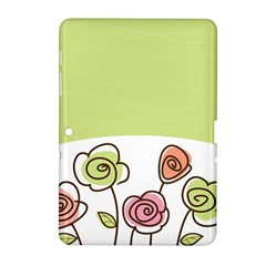 Flower Simple Green Rose Sunflower Sexy Samsung Galaxy Tab 2 (10 1 ) P5100 Hardshell Case