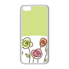 Flower Simple Green Rose Sunflower Sexy Apple Iphone 5c Seamless Case (white)