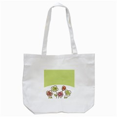 Flower Simple Green Rose Sunflower Sexy Tote Bag (white)