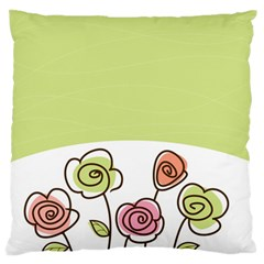 Flower Simple Green Rose Sunflower Sexy Large Flano Cushion Case (two Sides)