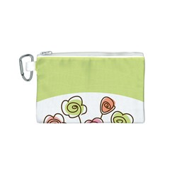 Flower Simple Green Rose Sunflower Sexy Canvas Cosmetic Bag (s)