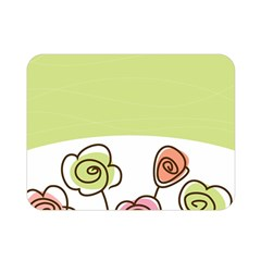Flower Simple Green Rose Sunflower Sexy Double Sided Flano Blanket (mini)