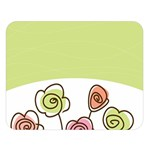 Flower Simple Green Rose Sunflower Sexy Double Sided Flano Blanket (Large)  80 x60 Blanket Front