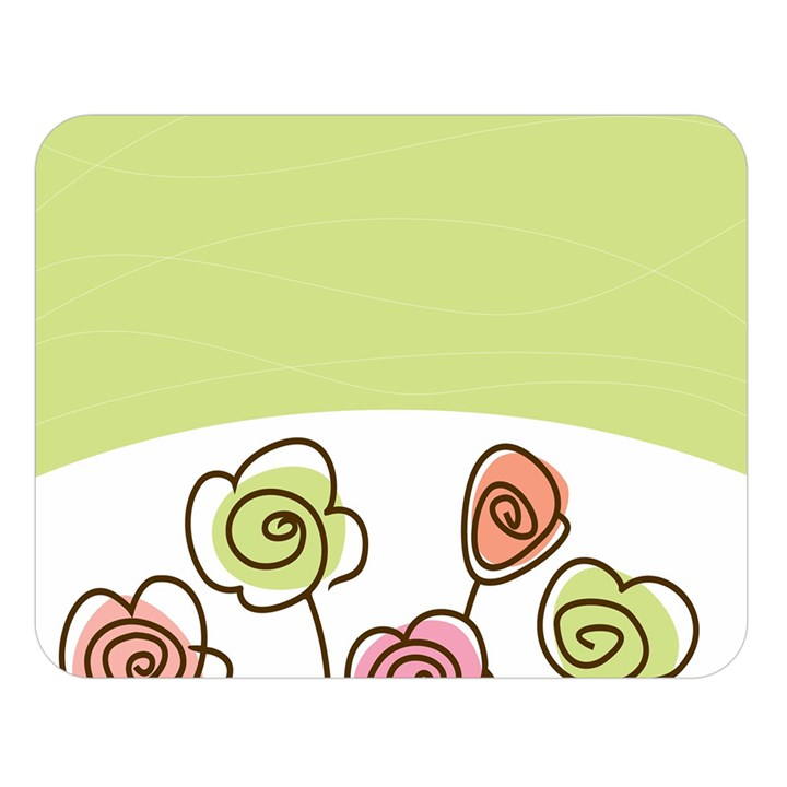 Flower Simple Green Rose Sunflower Sexy Double Sided Flano Blanket (Large)