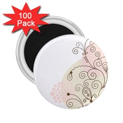 Flower Simple Pink 2 25  Magnets (100 Pack)
