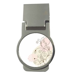 Flower Simple Pink Money Clips (round)
