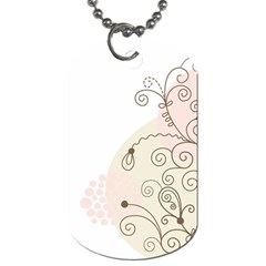 Flower Simple Pink Dog Tag (two Sides)