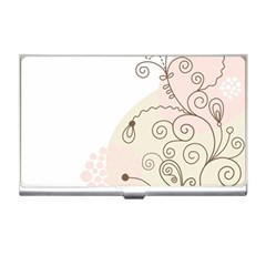Flower Simple Pink Business Card Holders