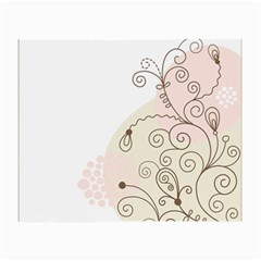 Flower Simple Pink Small Glasses Cloth