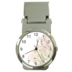 Flower Simple Pink Money Clip Watches