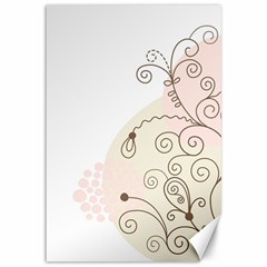 Flower Simple Pink Canvas 12  X 18