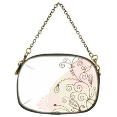 Flower Simple Pink Chain Purses (two Sides)