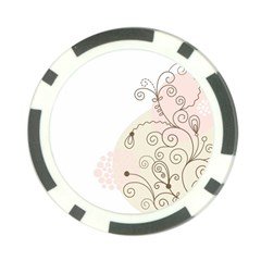 Flower Simple Pink Poker Chip Card Guard (10 Pack)