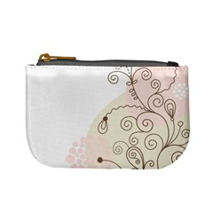 Flower Simple Pink Mini Coin Purses