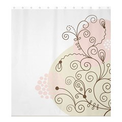 Flower Simple Pink Shower Curtain 66  X 72  (large)